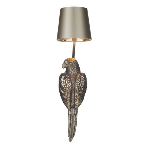 Parrot Single Wall Bracket Bronze + Silk Shade (Specify Colour) PAR0700 (7-10 day Delivery)